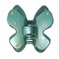 Заколка-краб бирюзовая со стразами Бабочка 128015 (Франция)