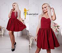 Платье. Ткань -  барби люкс, сзади корсет. Размер С и М. (21448)