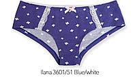 Трусы шортики из хлопка 3601/51 Ilana blue/white