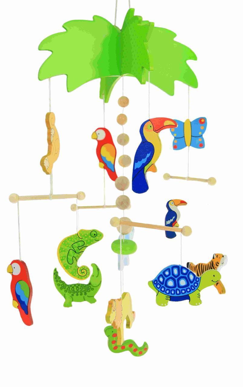 Goki Мобайл деревянный Пальма 52917