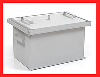 Коптильня с гидрозатвором 43х30х28см (сталь 1,5 мм, окрашена)