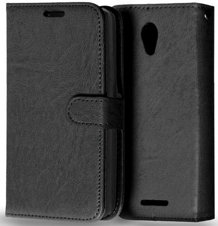 Кожаный чехол-книжка  для Lenovo A5000 черный, фото 2