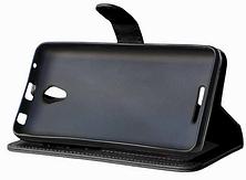 Кожаный чехол-книжка  для Lenovo A5000 черный, фото 3