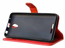 Кожаный чехол-книжка  для Lenovo A5000 красный, фото 3