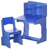 Детская парта F 2071A-42-4 с стульчиком цвет синий