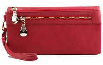 Розкішний жіночий гаманець клатч портмоне червоний