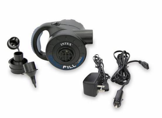 Насос электрический аккумуляторный Intex 66622 (220В Вольт + 12 Вольт + АКБ)