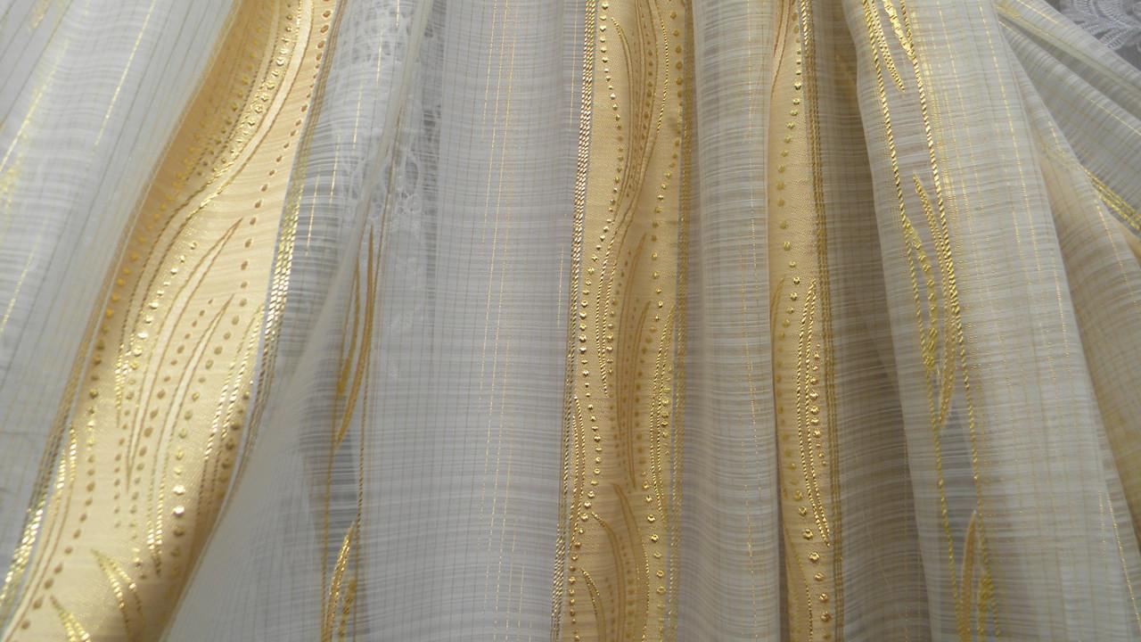 Тюли вуаль Амарантс золотой вставкой (kod 2695) - Textile plus в Хмельницком