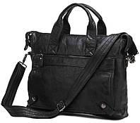 Классическая мужская сумка из натуральной кожи в черном увете Jasper&Maine (7120A)