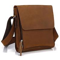 Очень красивая мужская сумка Мессенджер в винтажном стиле с наплечным ремнем TIDING BAG (7055B)