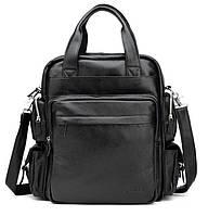 9ee0a6b10795 TIDING BAG деловая сумка Рюкзак из натуральной кожи в черном цвете TIDING  BAG T3069