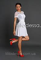 Платье с прозрачной спинкой белый, фото 1