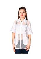 Блуза батал Китай 98-Ж белая