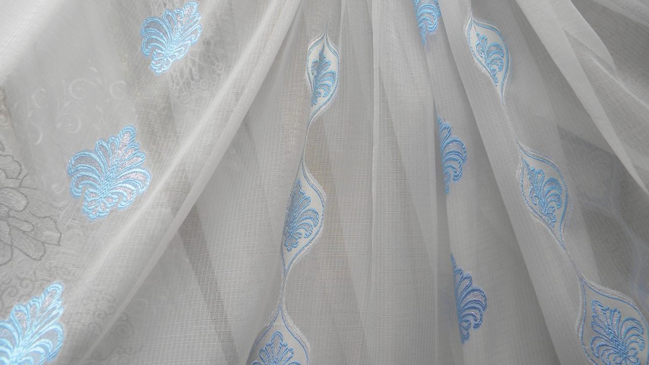 Тюли вуаль Абутилон с узором (kod 2698) - Textile plus в Хмельницком