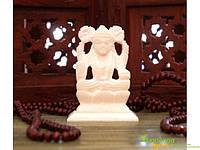 Статуэтка белый мрамор ручная работа пр-во Индия 10*7*3,5см. Ганеша, Аюрведа Здесь