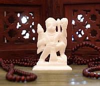 Статуэтка белый мрамор ручная работа пр-во Индия 10*7*3,5см. Хануман, Аюрведа Здесь