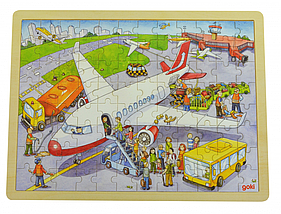 Goki Пазл деревянный Аэропорт 57544