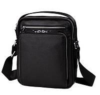 Классическая наплечная мужская сумка для мужчин в черном цвете TIDING BAG M5608-1A