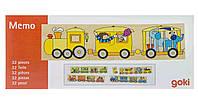 Goki Пазл деревяннй Цветной паровоз 56945