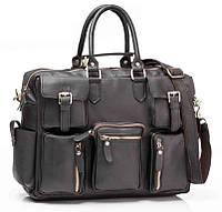 Дорожная сумка в черном цвете и натуральной коже Bexhill (G8113A)