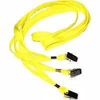 Шнурок для беджей Agent D002 желтый (3420379)