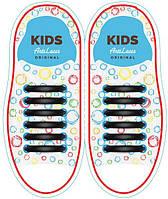 AntiLaces Силиконовые шнурки детские чёрные