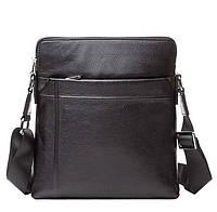 Мужская сумка месенджер с ремнем через плечо в черном цвете  TIDING BAG M9816A)