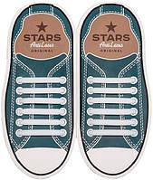 AntiLaces Прямые силиконовые шнурки для кроссовок и кед белые