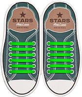 AntiLaces Прямые силиконовые шнурки для кроссовок и кед зелёные