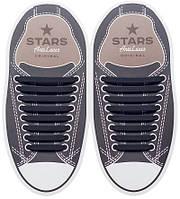 AntiLaces Косые силиконовые шнурки для кроссовок и кед чёрные