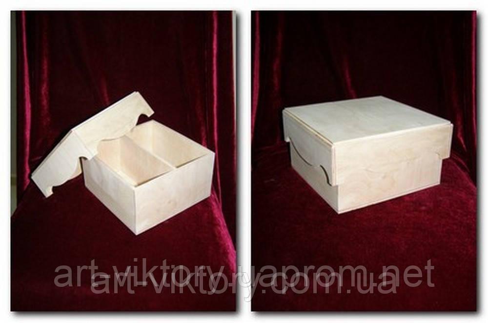 Короб з кришкою під чайні пакетики (19 х 19 х 10,5 см)