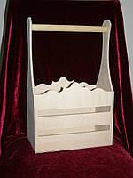 Короб под вины двойной. (39,5 х 25 х 14,5 см)