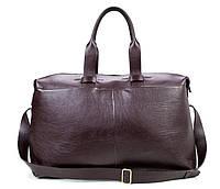 Вместительная дорожная сумка из натуральной кожи в темно коричневом цвете Blamont (Bn072C)