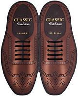 AntiLaces Силиконовые шнурки для классической обуви чёрные 40мм