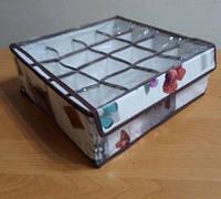 Органайзер для белья 16секций, с прозрачной крышкой