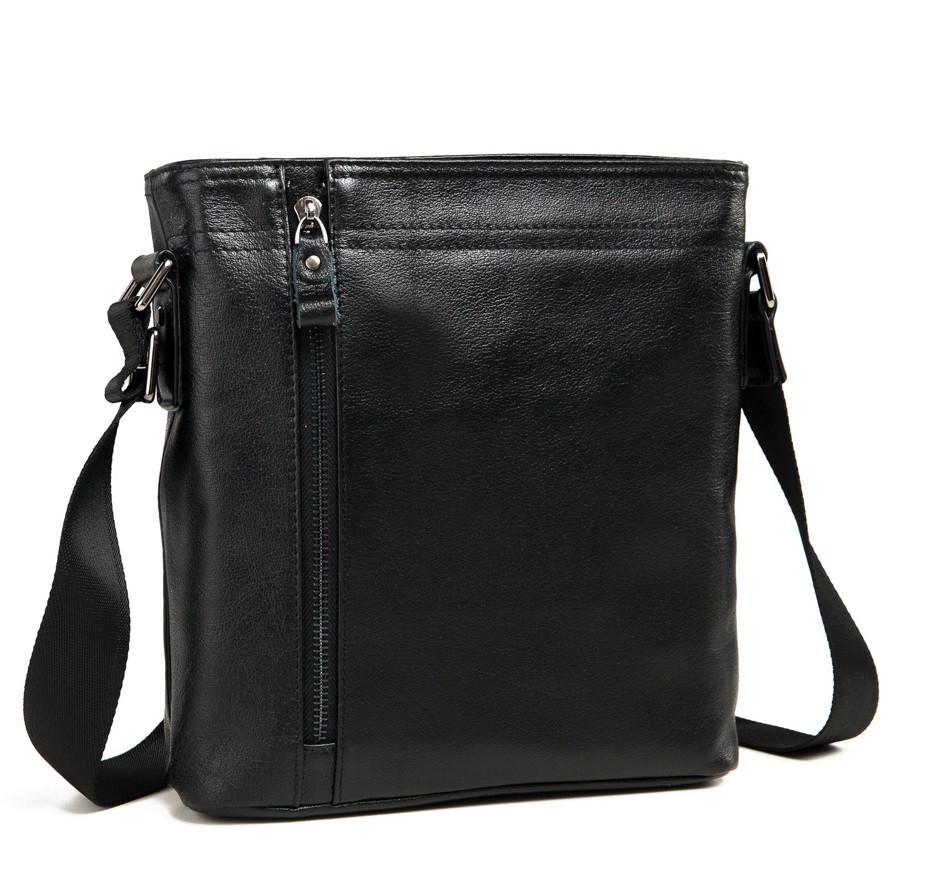 Сумка планшетка для мужчин в классическом черном цвете с наплечным ремнем Tiding Bag (M6917-5A)