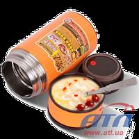 Термос для еды (800мл), оранжевый (000548)