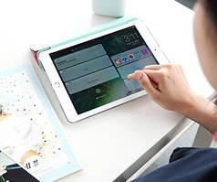 """Кожаный чехол (книжка) ROCK Anne's Garden Series для Apple iPad 9,7"""" (2017) Синяя Сова, Красный / Mei Red"""