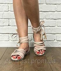 Оригинальные сандалии Public Desire на шнуровке с декоративными жгутами  SH1227