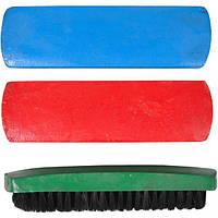 Щетка для обуви деревянная 408 цветная (арт.408С)