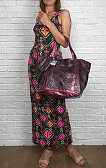 Роскошная сумка-oversize Carpisa с фактурным верхом и напылением  BG2525