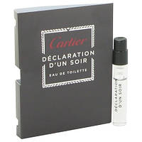 Cartier Declaration Cartier D'Un Soir EDT 1.5ml VIAL (ORIGINAL)
