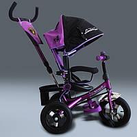 Трехколесный велосипед Lamborgini WS-611 (алюминиевая рама), надувные колеса. Фиолетовый.