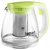 Чайник заварочный Lamart LT7026 стеклянный 1,1л