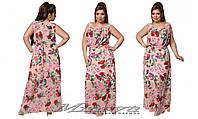 Шифоновое платье в пол большого размера 48-54