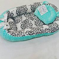 Кокон-гнездышко для новорожденных + ортопедическая подушка