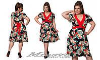 Повседневное летнее платье из штапеля большого размера  50-56