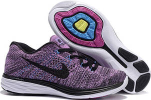 Кроссовки Nike Flyknit Lunar 3 Lavander Black