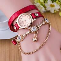 Женские часы-браслет голографический ремешок Red