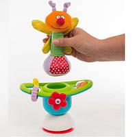 Игрушка на присоске - ЦВЕТОЧНАЯ КАРУСЕЛЬ  для детей с 6 месяцев ТМ Taf Toys 10915